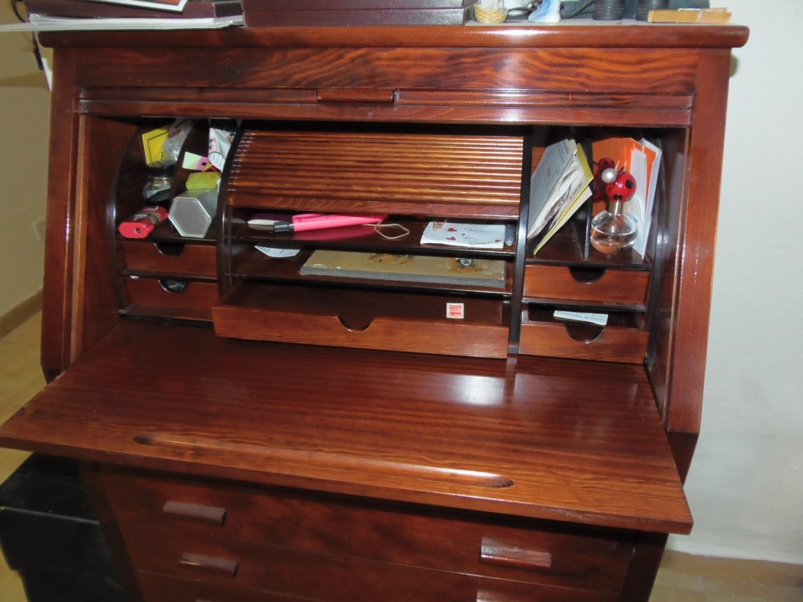 Roll Top Bureau Desk - Image 2