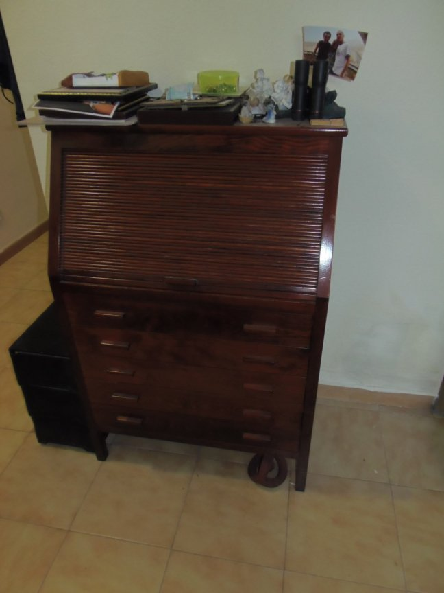 Roll Top Bureau Desk - Image 1
