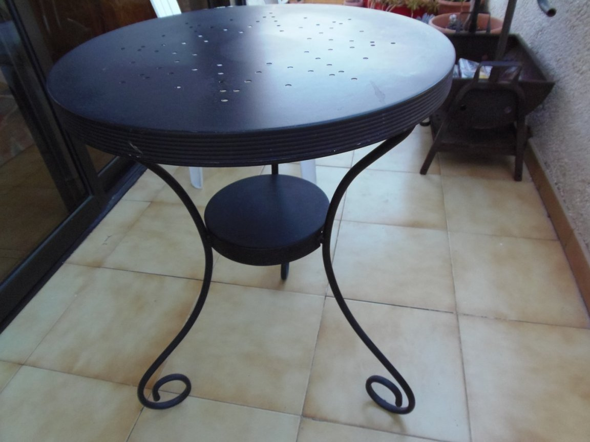Black Metal Table