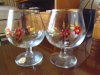 Decorated Brandy Glasses