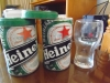 2 x Heineken Glasses in Tin Containers