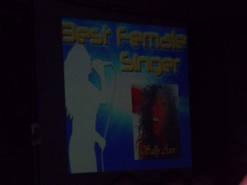 Best Female Singer - Sally Ann
