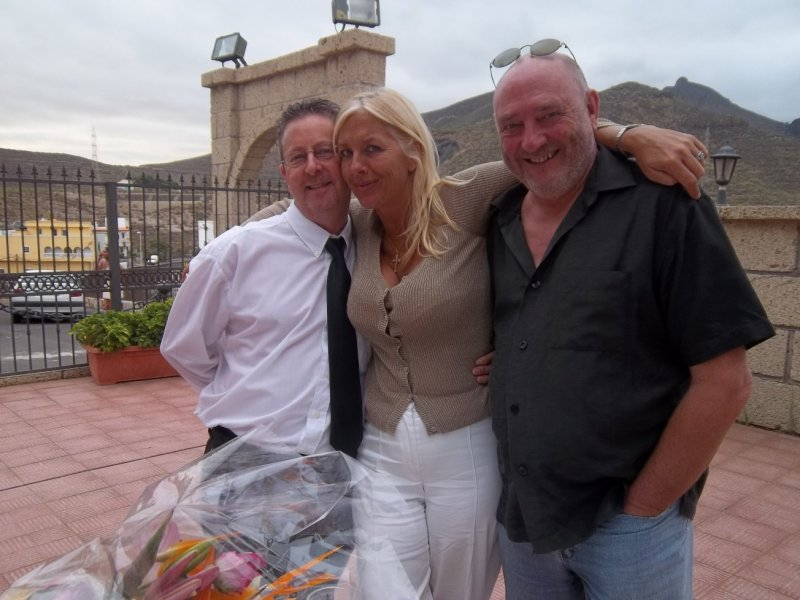 Stephen with Maxine and Geoff