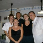 The Staff at Rumours Restaurant in Los Cristianos, Tenerife