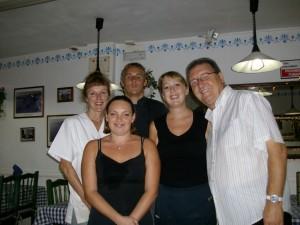 The Staff at Rumours Restaurant in Los Cristianos, Tenerife