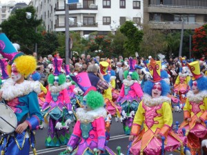 Clowns at the Santa Cruz Carnaval in 2009