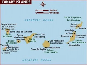 These are the islands that Alan Gandy of Gandy-Draper will be waling to raise money for Charity