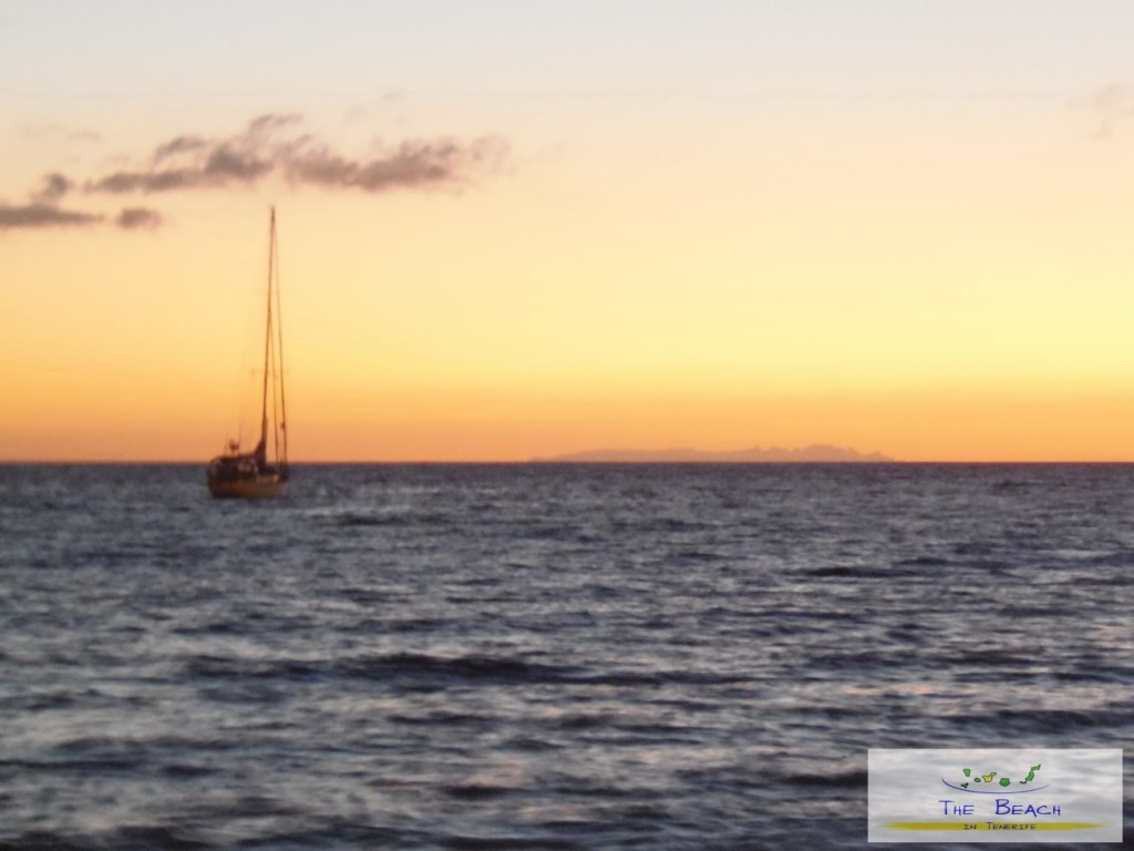Yacht with El Hierro in the background