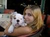 Eli with a Bulldog puppy