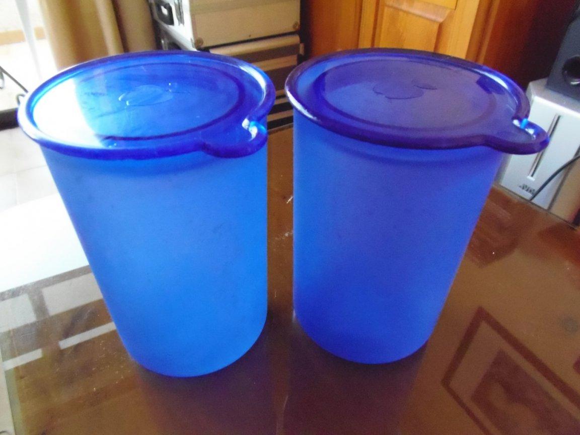 2 x Blue Kitchen Storage Containers