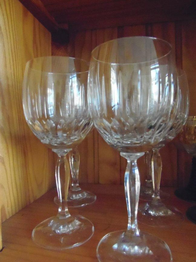 Large Crystal Wine Glasses