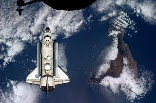 Space Shuttle over Tenerife
