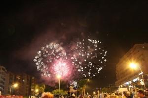 Fireworks in Los Cristianos, Tenerife